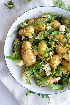 awesome A warm potato salad is packed with cauliflowers, cornichons, and dressed in a wonderful mustard dressing using Whole-grain mustard! Veggie Recipes, Vegetarian Recipes, Dinner Recipes, Healthy Recipes, Sausage Recipes, Kitchen Recipes, Cooking Recipes, Warm Potato Salads, Greens Recipe
