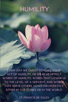 Humility, St. Francis de Sales