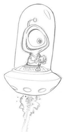 alien design by tombancroft on DeviantArt – – Graffiti World Alien Drawings, Trippy Drawings, Space Drawings, Cool Art Drawings, Pencil Art Drawings, Art Drawings Sketches, Disney Drawings, Cartoon Drawings, Cartoon Art