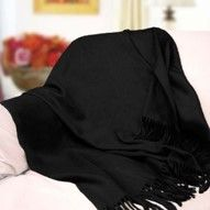 Peach CouturePeach Couture Signature Cashmere Throw-Just like in fashion, black cashmere is a classic you will love for years to come from @wayfair