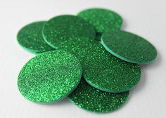 35 pcs Green Glitter Foam Circle Stickers by ILoveYoYoWedding, $4.99