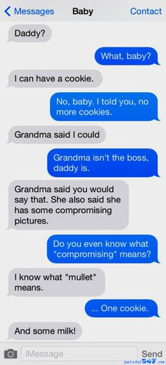 Text Messages From My Baby - text humor