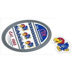 Kansas Jayhawks Game Day Decal Set, Multicolor