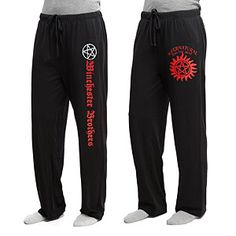 Supernatural Lounge Pants - Exclusive | ThinkGeek - both designs - size small