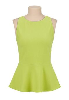Textured peplum with cutout back (original price, $29) available at #Maurices