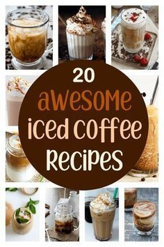 20 Awesome Iced Coffee Recipes Iced coffee is the perfect refresher on a hot afternoon. Make your coffee break into a little oasis of icy sweetness with one of these iced coffee recipes. Iced Coffee Drinks, Coffee Drink Recipes, Ninja Coffee Bar Recipes, Frozen Coffee Drinks, Espresso Recipes, Cold Brew Coffee Recipe, Smoothies, Café Chocolate, How To Make Ice Coffee