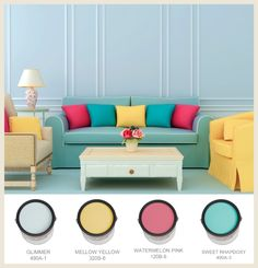 fun accent wall colors