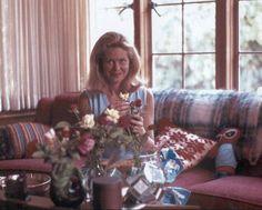 Elizabeth Montgomery at home.