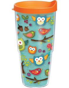 Designs - Tervis Insulated Tumblers - Mugs - Water Bottles - Gifts Owl Quilts, Owl Bags, Owl Cookies, Felt Owls, Tervis Tumbler, Dengeki Daisy, Art Deco Posters, Cute School Supplies, Owl Print