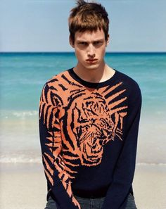 #mens #guys #street #fashion #menswear #style #streetstyle #jumper #knit #tiger