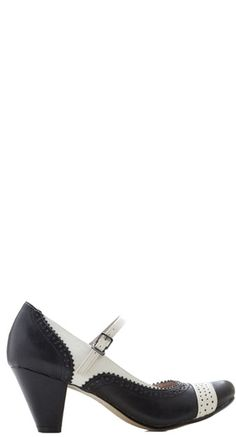 Mary Jane Vamp Heel in Black | Blame Betty