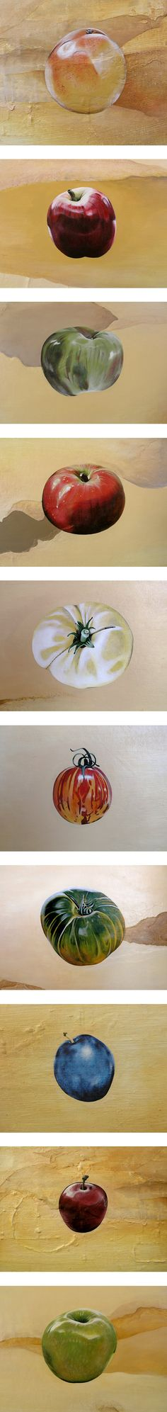 Contemporary Paintings of Fruit ~ Amiria Gale