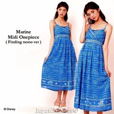New Secret Honey Disney Limited Edition Finding Nemo Marine Midi Onepiece Dress #SecretHoney