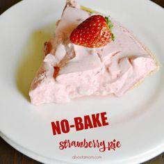 No Bake Strawberry Pie Recipe