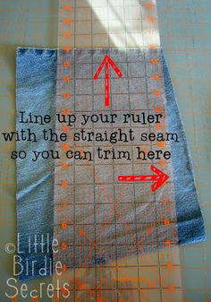 SEW QUILT Denim Quilt directions (part 1 of Something to do with all the leftover denim from making shorts from jeans Quilting Tips, Quilting Tutorials, Quilting Projects, Sewing Projects, Quilting Rulers, Diy Projects, Weekend Projects, Quilting Patterns, Jean Crafts