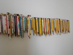 creating wall art with a pencil collection