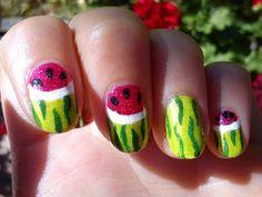 Melon nail art