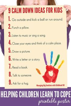 Steps to Managing Big Emotions: Printable Poster A calm down plan to help children of all ages learn to manage big emotions in socially acceptable ways.A calm down plan to help children of all ages learn to manage big emotions in socially acceptable ways. Emotions Wheel, Feelings And Emotions, Controlling Emotions, Emotional Regulation, Emotional Development, Parenting Advice, Kids And Parenting, Parenting Quotes, Peaceful Parenting