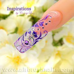 Inspiration Airbrushnails.com - Nailart-Klebeschablonen. #nails #nail art #airbrush #nägel #fashion
