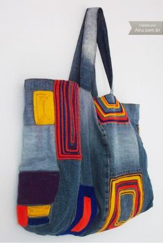 Jeans Hand Bag - Product 2509 | AIRU. Inspiration pin - no tutorial.