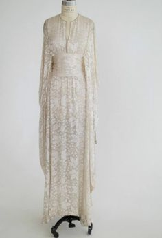 Thea Porter couture silk embroidered obi wrap RARE wedding princess caftan gown