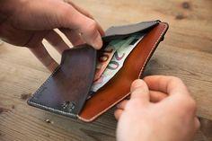 Wallet Leather wallet brown leather biker wallet handmade in