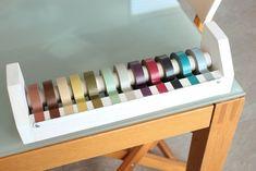 Washi Tape Dispenser made by Daniel, Daniel Does blog. Bought by Gennine of Gennine's Art Blog. Post August 26, 2011.