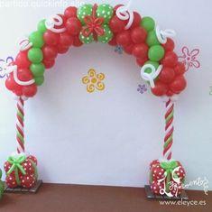Christmas Balloons, Tacky Christmas, Kids Christmas, Christmas Fayre Ideas, Office Christmas Decorations, Balloon Arch, Balloon Garland, Christening Balloons, Christmas Door Decorating Contest