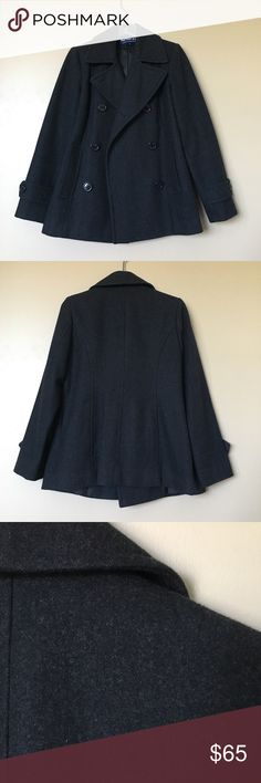 {Herman Kay} NWOT Black Peacoat Beautiful peacoat, never worn and in excellent condition! Herman Kay Jackets & Coats Pea Coats