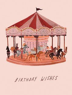 Creative Illustration, Carousel, Wishes, Becca, and Stadtlander image ideas & inspiration on Designspiration Art And Illustration, Illustration Mignonne, Illustrations, Birthday Wishes, Birthday Cards, Happy Birthday, Birthday Ideas, Inspiration Art, Poster S
