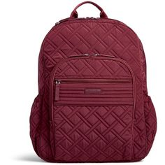 91d94b314d16 Vera Bradley Campus Tech Backpack ( 138) ❤ liked on Polyvore featuring bags