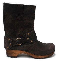 Sanita Hunter Mohawk Waxed Leather Wood Boot in Black
