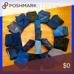 ❤️ WISH LIST ❤️ - HIGH END denim sizes 24-32 Let us know what style jeans you're looking for. We will tag you in anything you may be interested in😊. Please include specific sizes, inseam, brand, etc. Jeans
