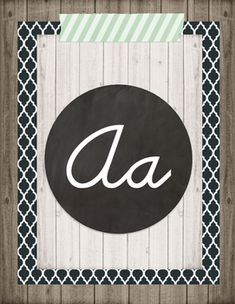 Add these cursive alphabet posters to your classroom for a perfect fit with a rustic, vintage, retro chic, or farmhouse classroom environment.