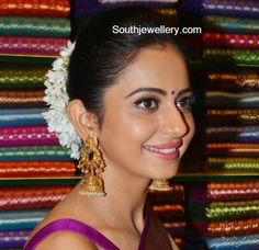 Rakul Preet in Antique Peacock Jhumkas photo