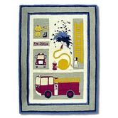 Found it at Wayfair - Fire Truck Kids Rug