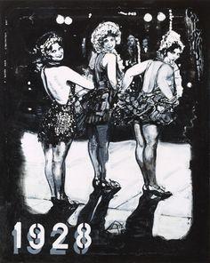 Chris F: 1928: A Glance Back oil on canvas