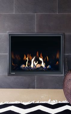 Fireplace Inserts, Gas Fireplace, North Vancouver, Downlights, Urban, Gas Fireplaces