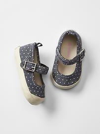 Polka dot mary jane sneakers