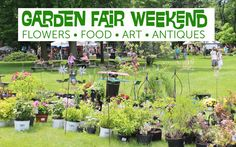 Flowers, food, art, and antiques all at Garden Fair weekend at Klehm Arboretum.