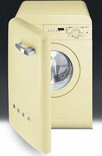 Máquina de lavar roupa em estilo retrô