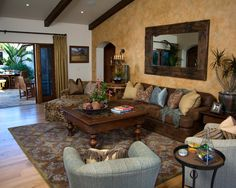 Mediterranean Living Room Design, Pictures, Remodel, Decor and Ideas