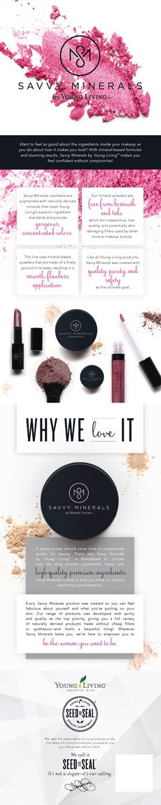 Make-up you can feel good about! Free from bismuth and talc. Feel confident without compromise. To learn more go to thefreckledfarmhouse.com #savvyminerals #cleanmakeup #yleo
