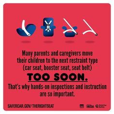 Many parents and caregivers move their children to the next restraint type TOO SOON  http://ift.tt/1h6EsOQ #therightseat #pin