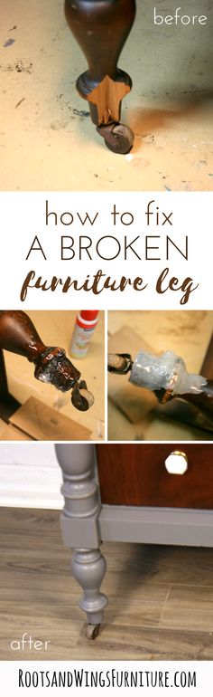 How to repair furniture by making a custom mold.  Tutorial by Jenni of Roots and Wings Furniture.