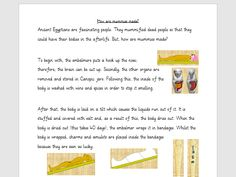 Explanation text: How mummies are made by lrwhaxby . Explanation Text, Good People, Image Search