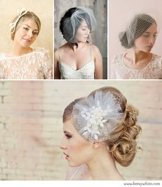 Bird cage veils, how vintage and romantic!