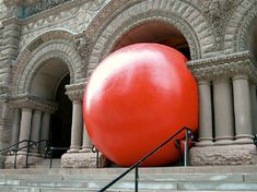 The Red Ball Project Art Installation
