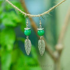 Green Agate Gemstone Earrings от ZlatovlaskaJewelry на Etsy