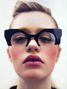 Omg omg omg! MIU MIU, RASOIR GLASSES: by clifford loh for vulture magazine.